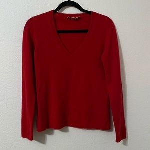 Caslon Red V Neck Sweater.